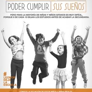 Cartel campaña #LeonorDejaLaEscuela